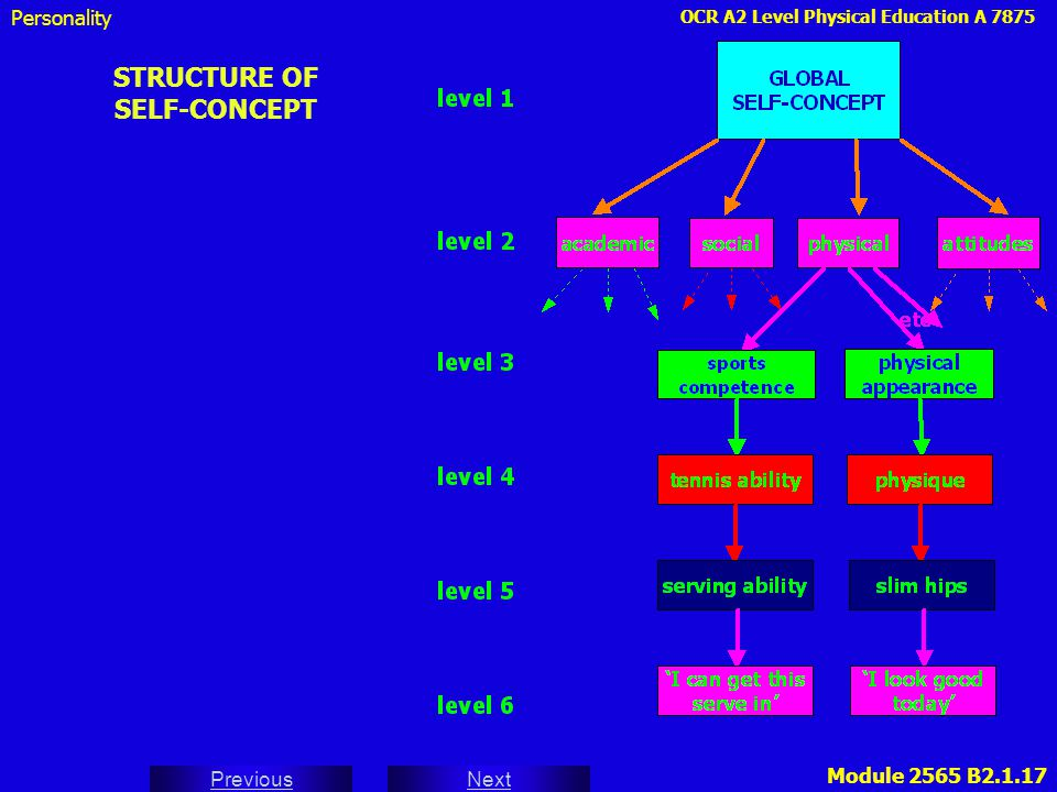 STRUCTURE OF SELF-CONCEPT