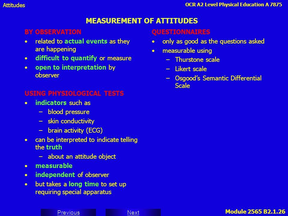 MEASUREMENT OF ATTITUDES