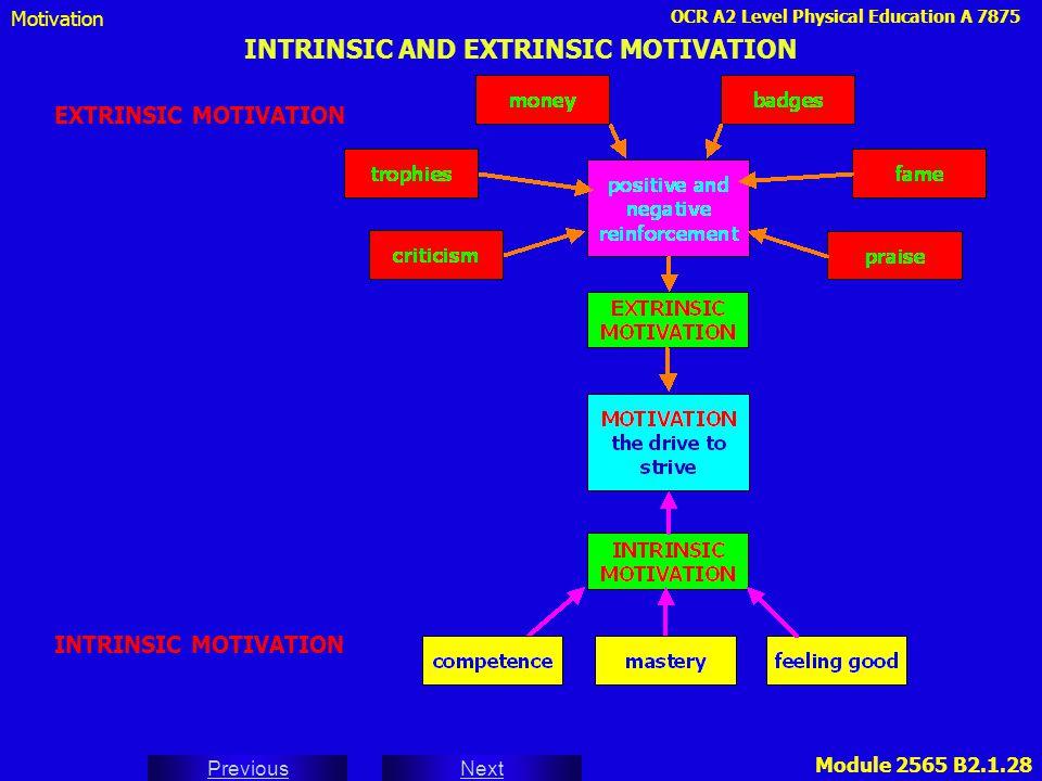 INTRINSIC AND EXTRINSIC MOTIVATION