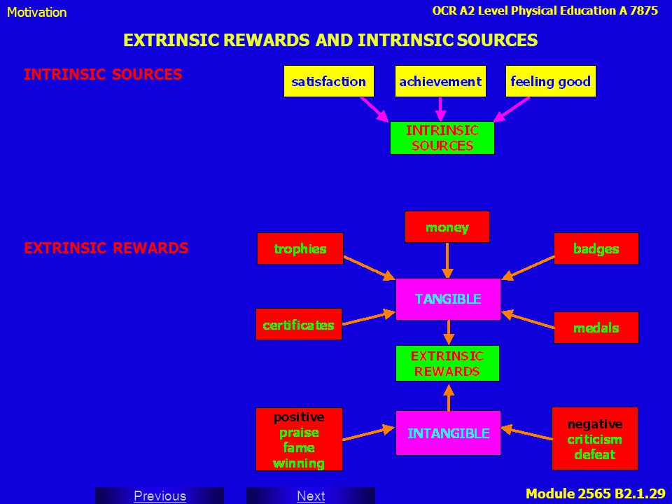 EXTRINSIC REWARDS AND INTRINSIC SOURCES