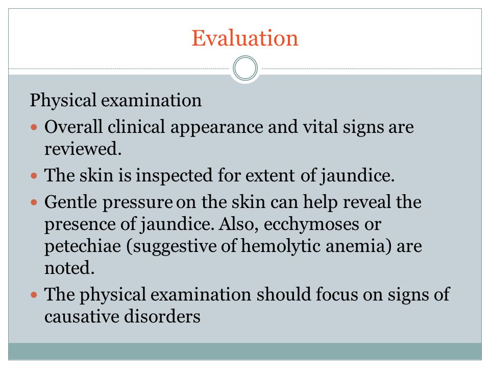 Evaluation Physical examination