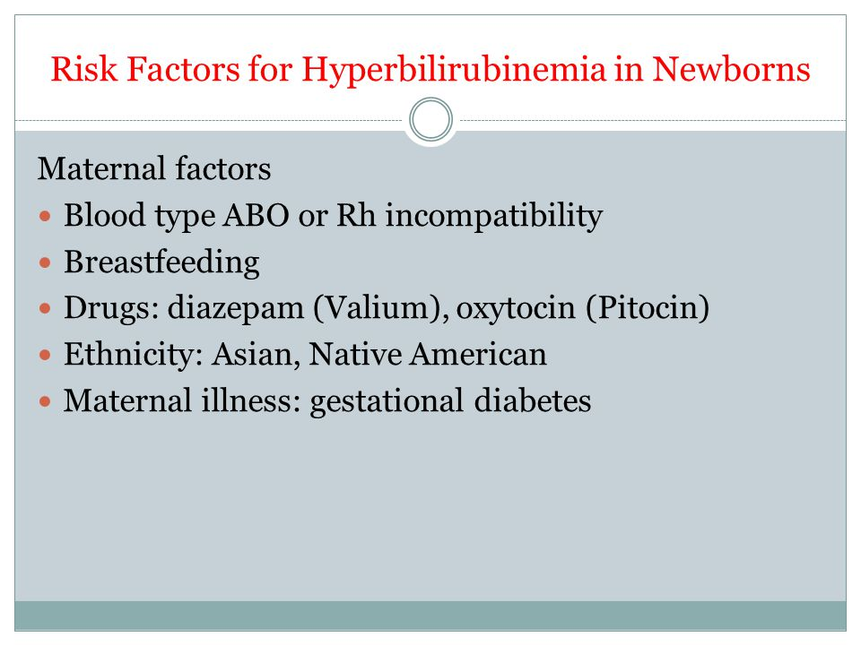 Risk Factors for Hyperbilirubinemia in Newborns