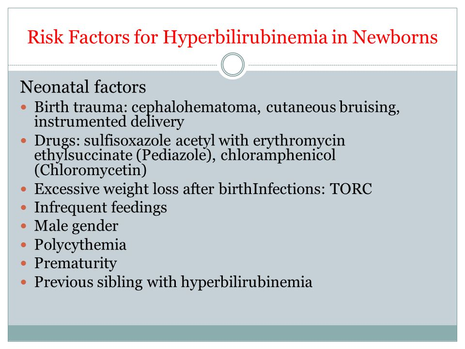 Risk Factors for Hyperbilirubinemia in Newborns