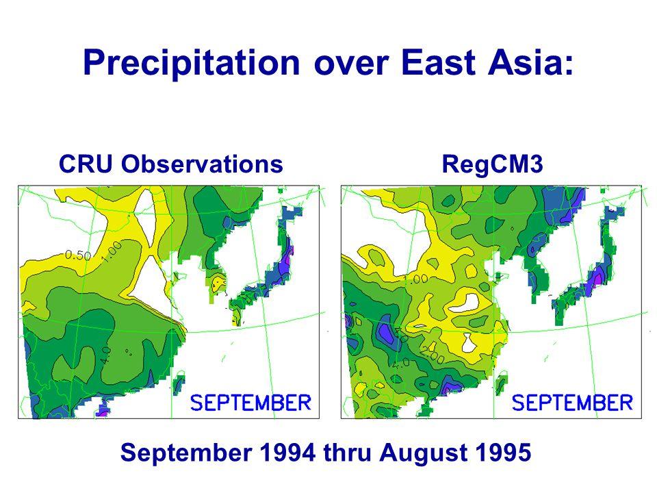 Precipitation over East Asia: