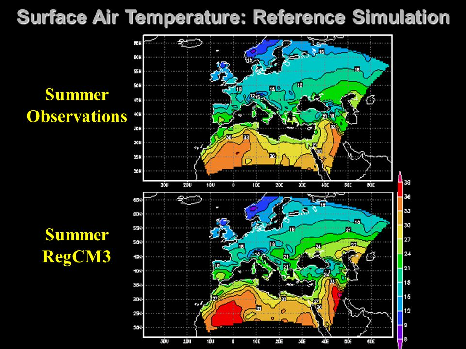 Surface Air Temperature: Reference Simulation