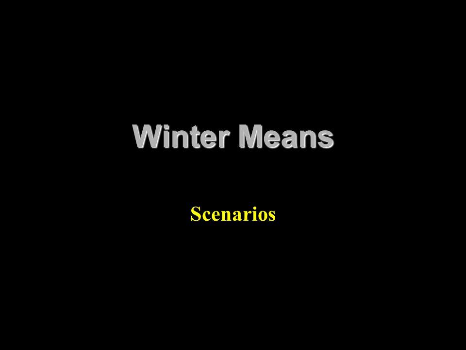 Winter Means Scenarios