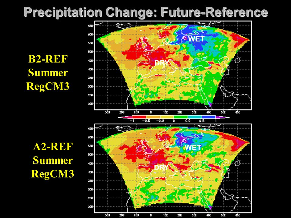 Precipitation Change: Future-Reference