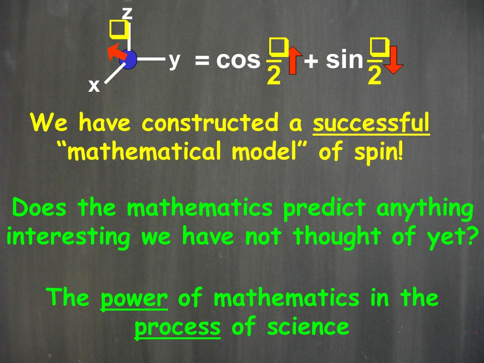 q _ cos sin = + 2 We have constructed a successful
