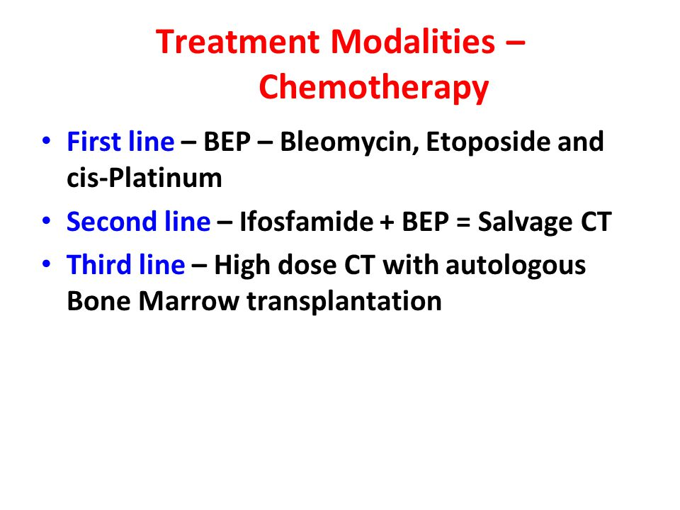 Treatment Modalities – Chemotherapy