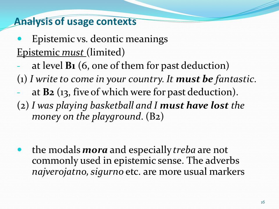Analysis of usage contexts