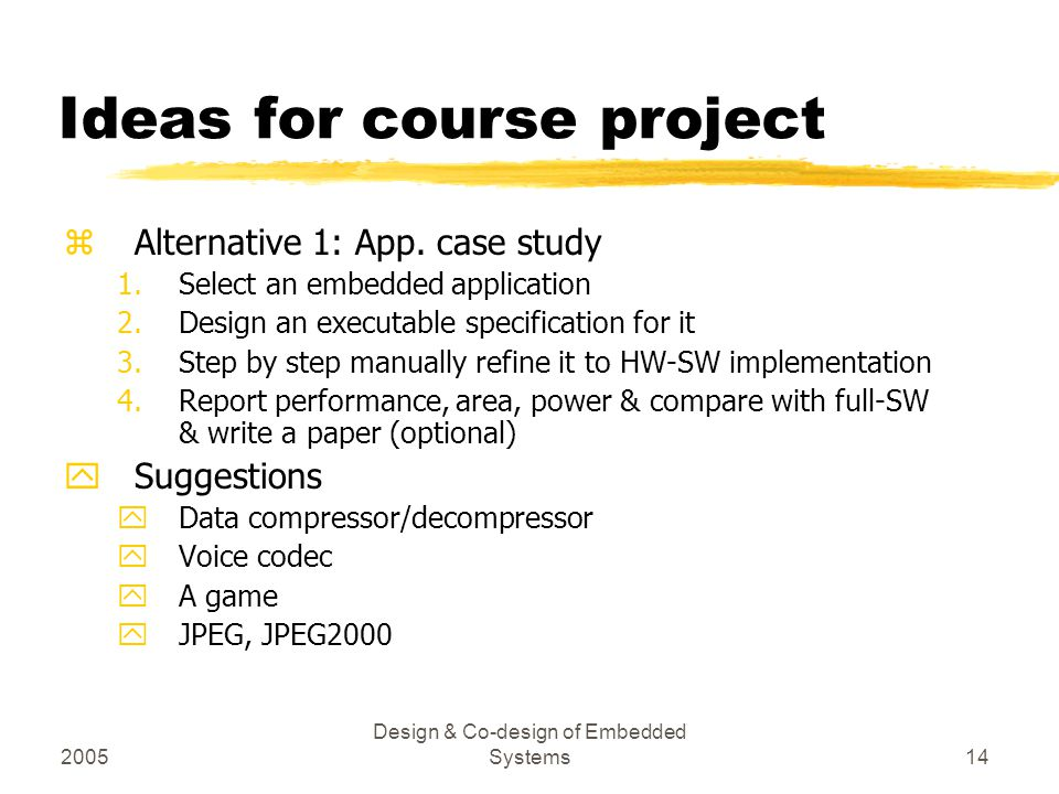 Ideas for course project