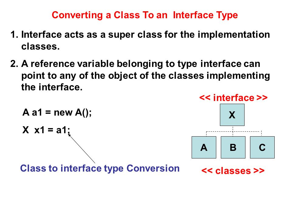Converting a Class To an Interface Type