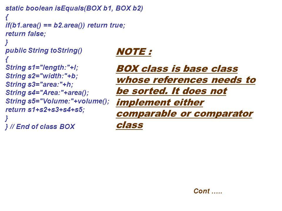 static boolean isEquals(BOX b1, BOX b2)