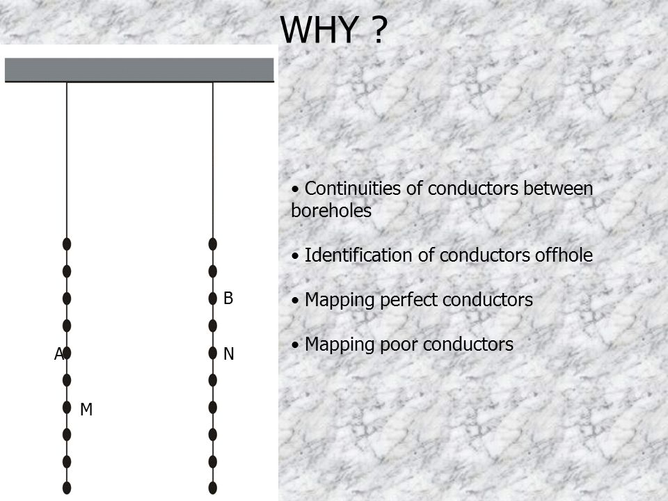 WHY Continuities of conductors between boreholes
