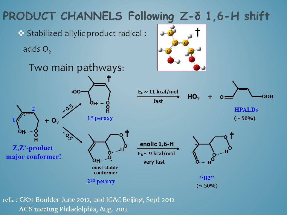 PRODUCT CHANNELS Following Z-δ 1,6-H shift