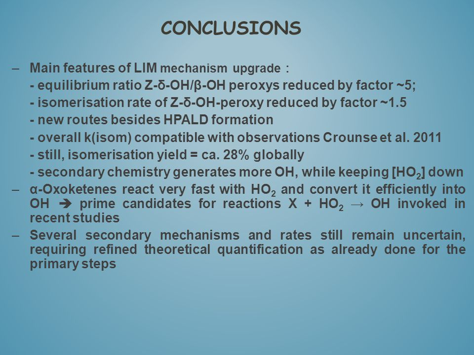 CONCLUSIONS Main features of LIM mechanism upgrade :