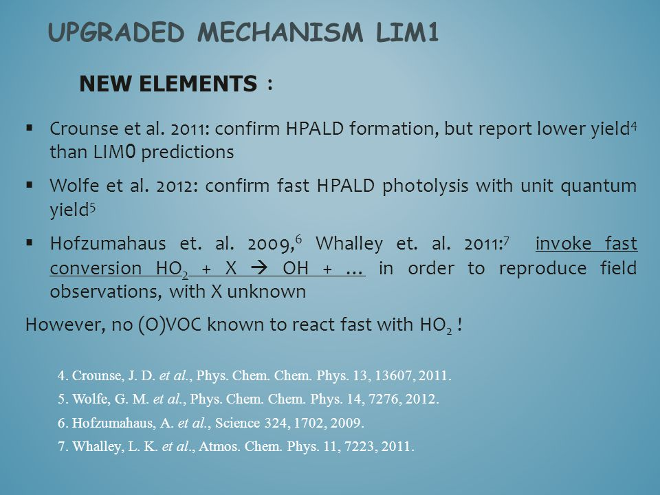 NEW ELEMENTS : UPGRADED MECHANISM LIM1