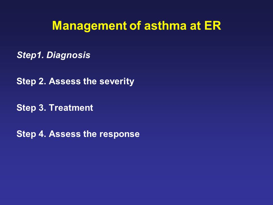 Management of asthma at ER