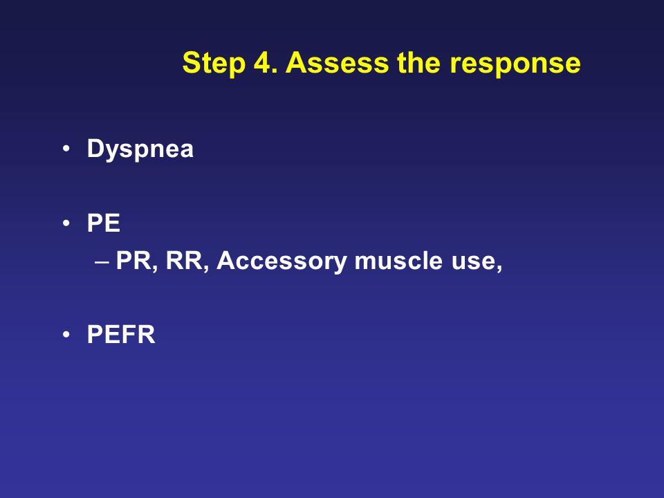 Step 4. Assess the response