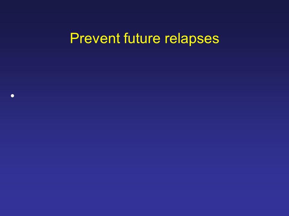 Prevent future relapses