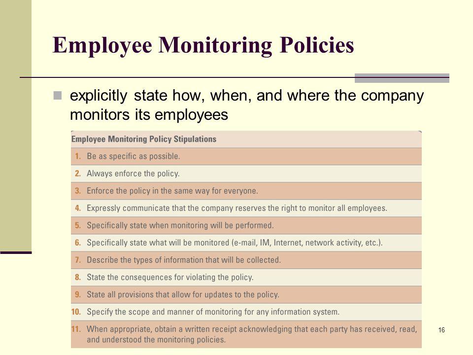 Employee Monitoring Policies