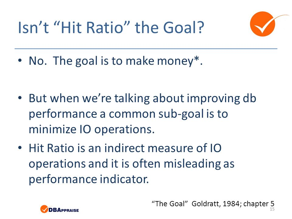 Isn't Hit Ratio the Goal