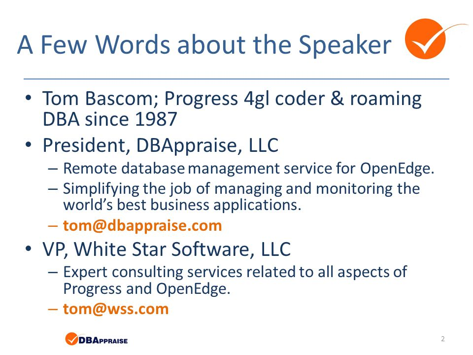 A Few Words about the Speaker