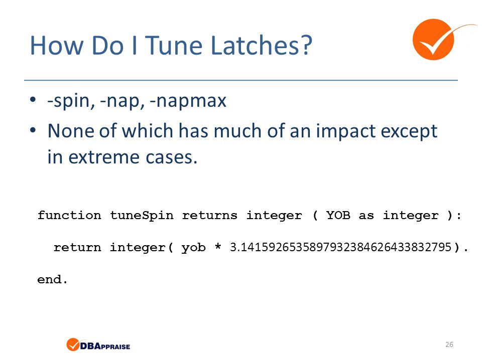 How Do I Tune Latches -spin, -nap, -napmax