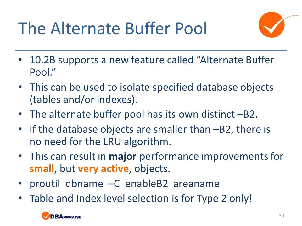 The Alternate Buffer Pool