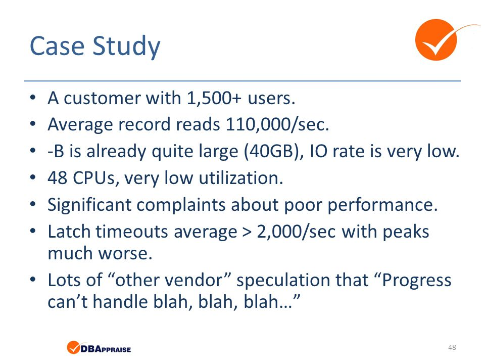 Case Study A customer with 1,500+ users.