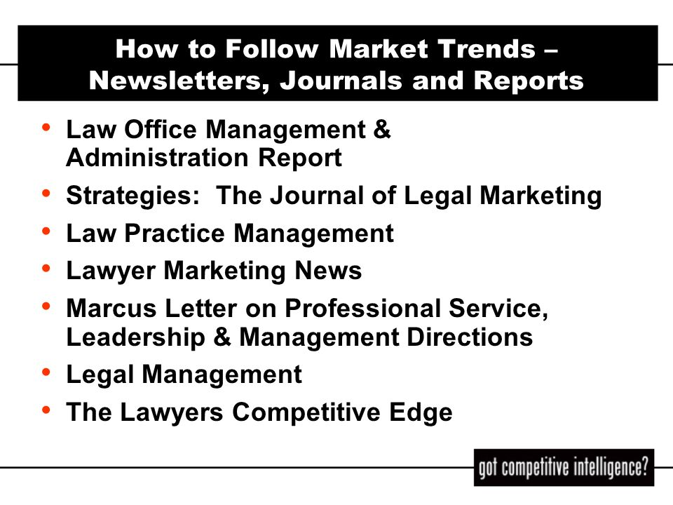 How to Follow Market Trends – Newsletters, Journals and Reports
