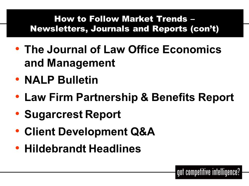 The Journal of Law Office Economics and Management NALP Bulletin