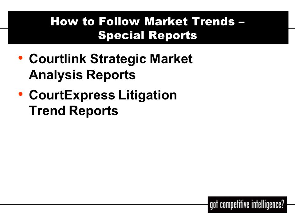 How to Follow Market Trends – Special Reports