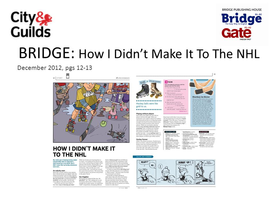 BRIDGE: How I Didn't Make It To The NHL