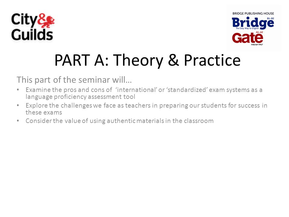 PART A: Theory & Practice