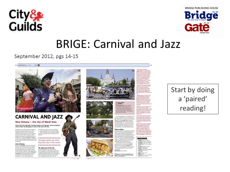 BRIGE: Carnival and Jazz
