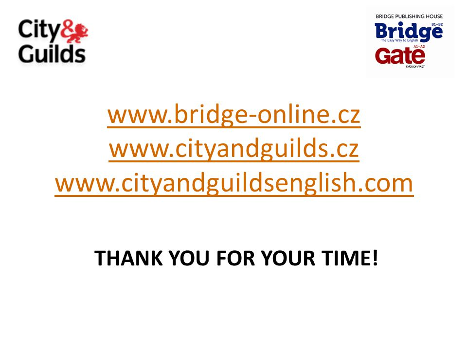 www.bridge-online.cz www.cityandguilds.cz www.cityandguildsenglish.com