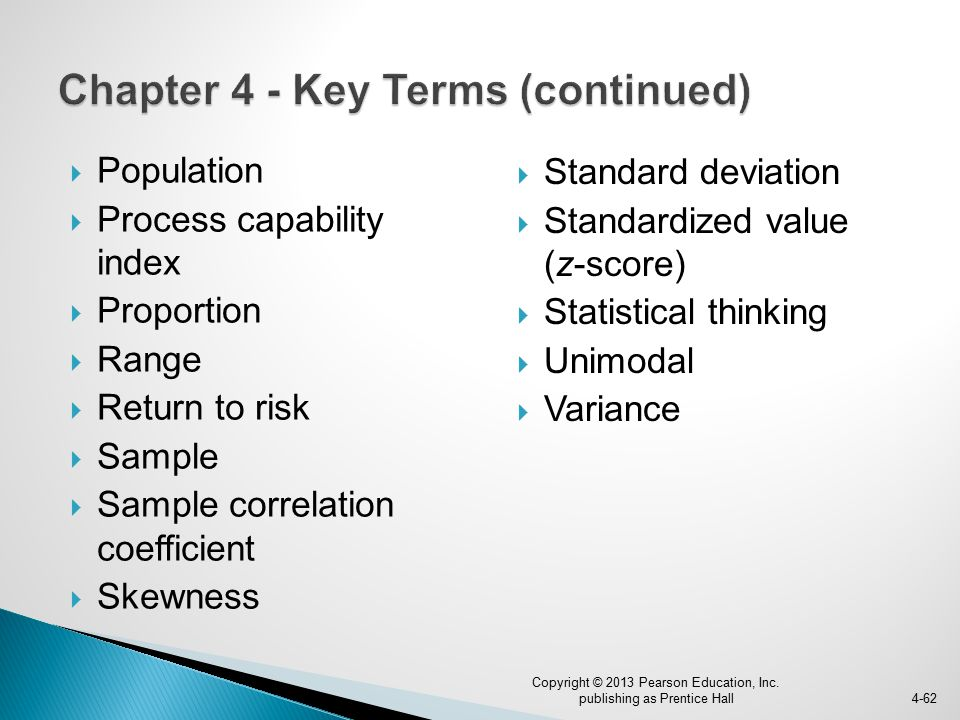 Chapter 4 - Key Terms (continued)