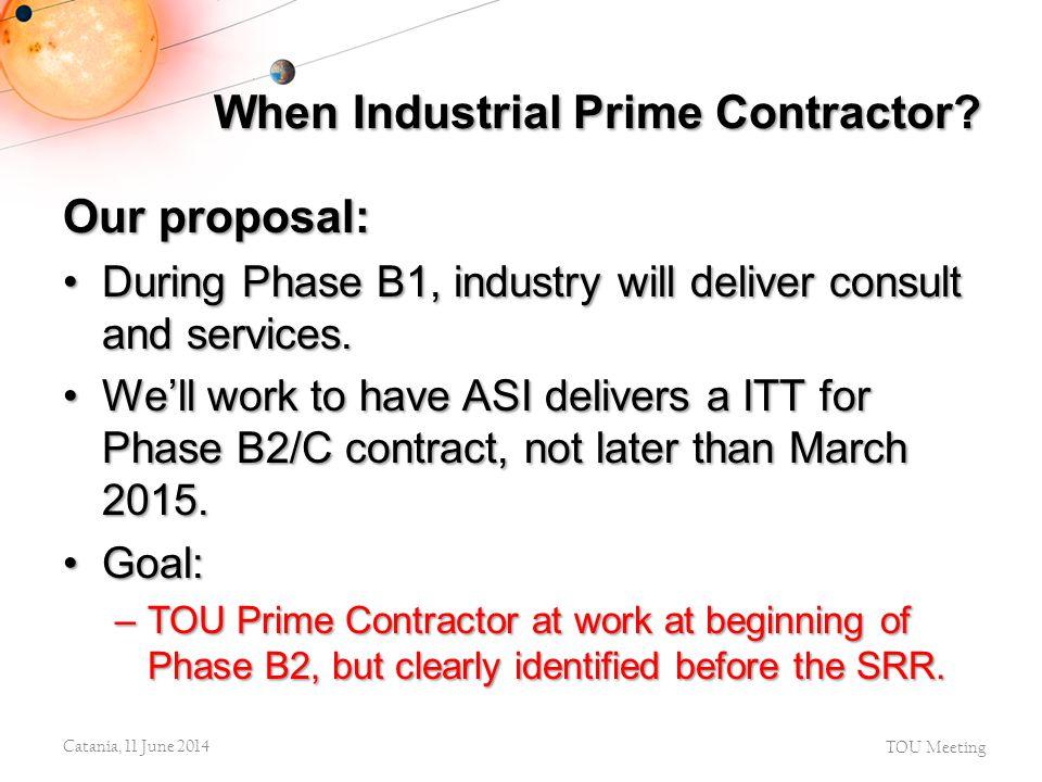 When Industrial Prime Contractor