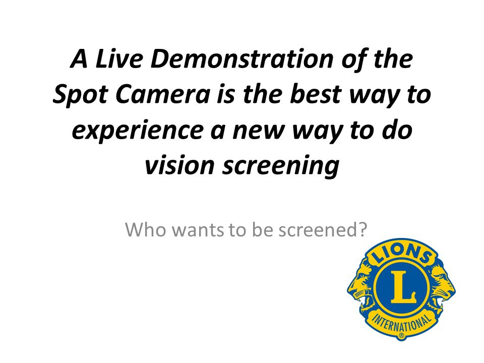 Who wants to be screened
