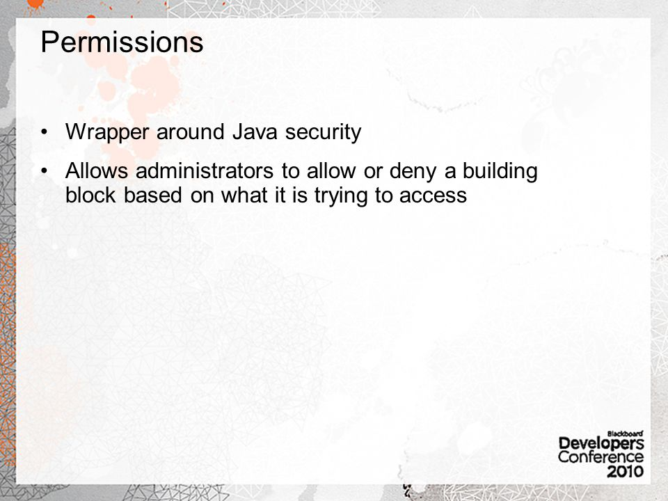 Permissions Wrapper around Java security