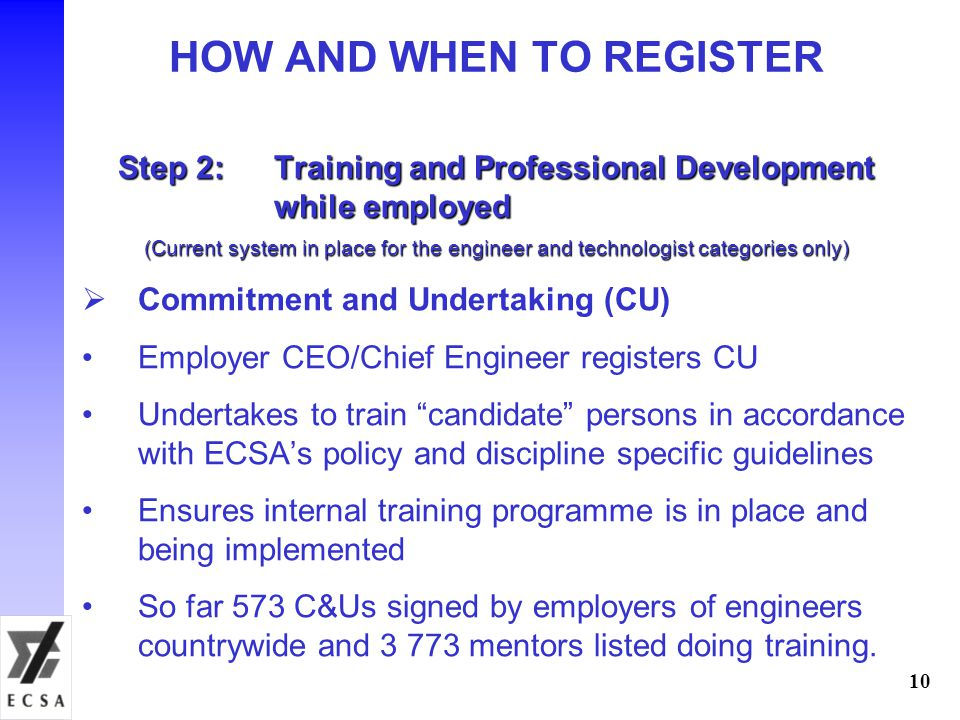 HOW AND WHEN TO REGISTER