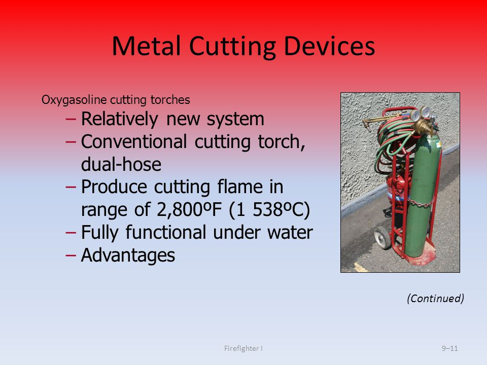 Metal Cutting Devices Relatively new system