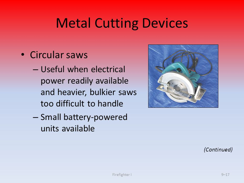 Metal Cutting Devices Circular saws