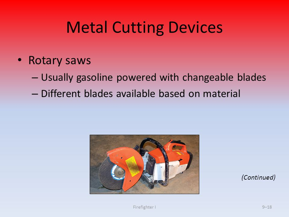 Metal Cutting Devices Rotary saws