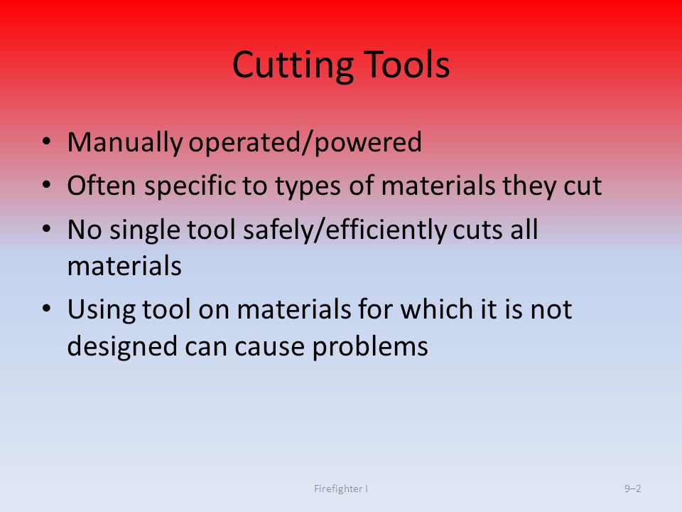 Cutting Tools Manually operated/powered