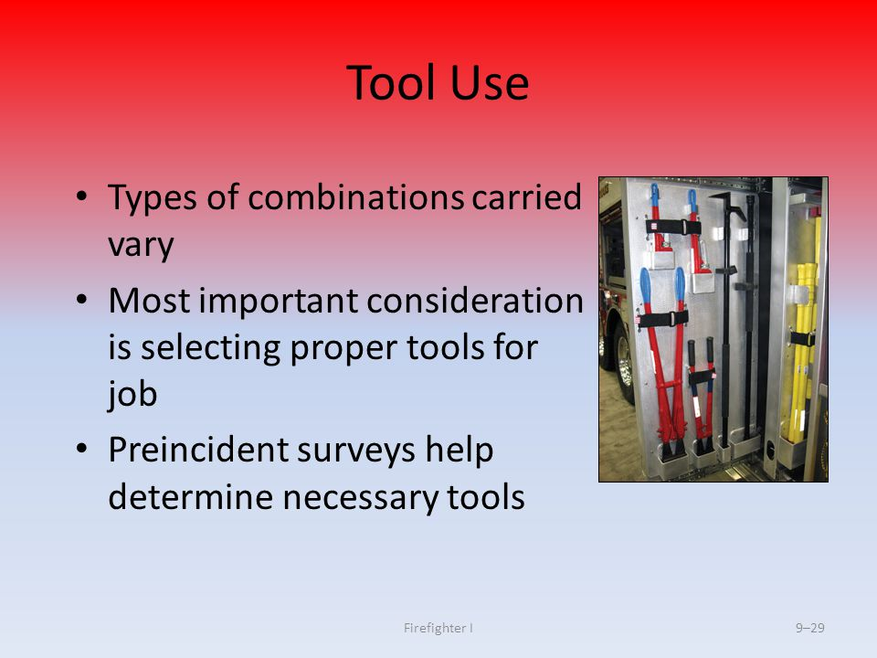 Tool Use Types of combinations carried vary