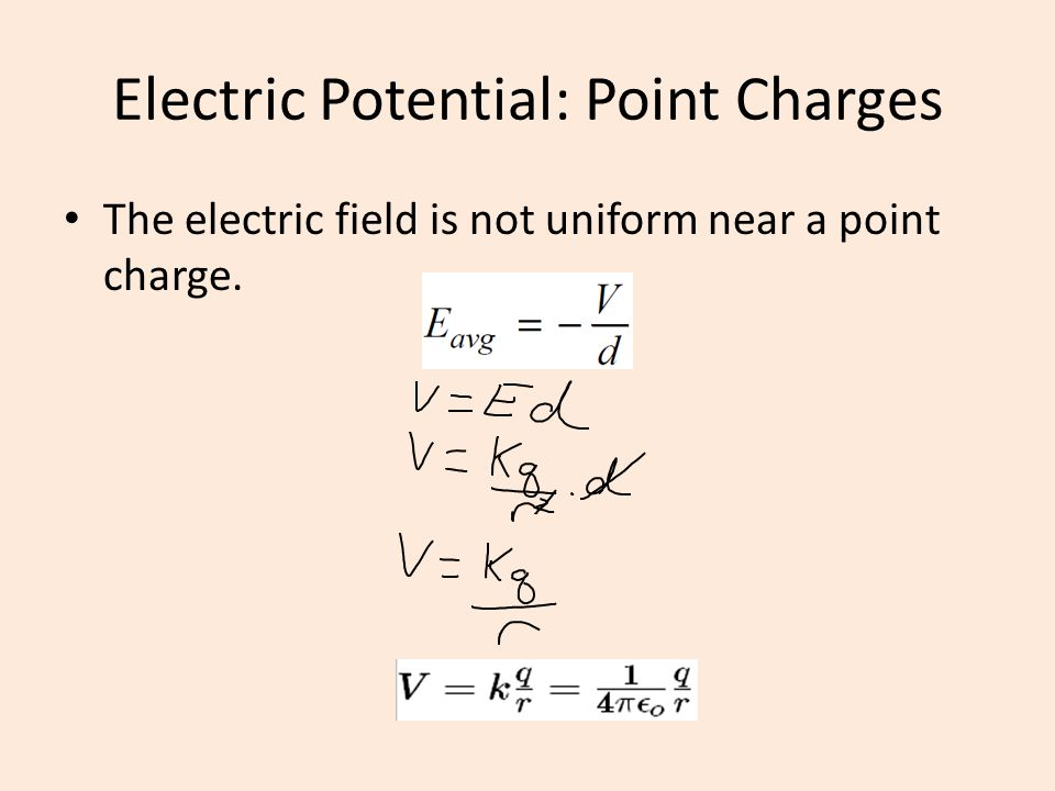 Electric Potential: Point Charges