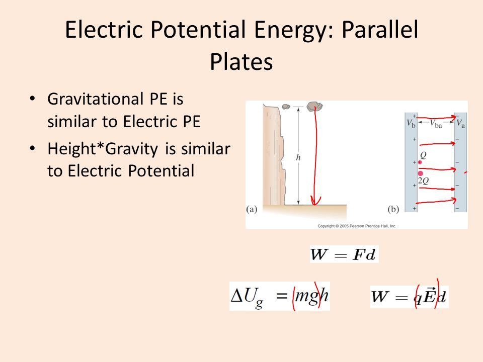 Electric Potential Energy: Parallel Plates