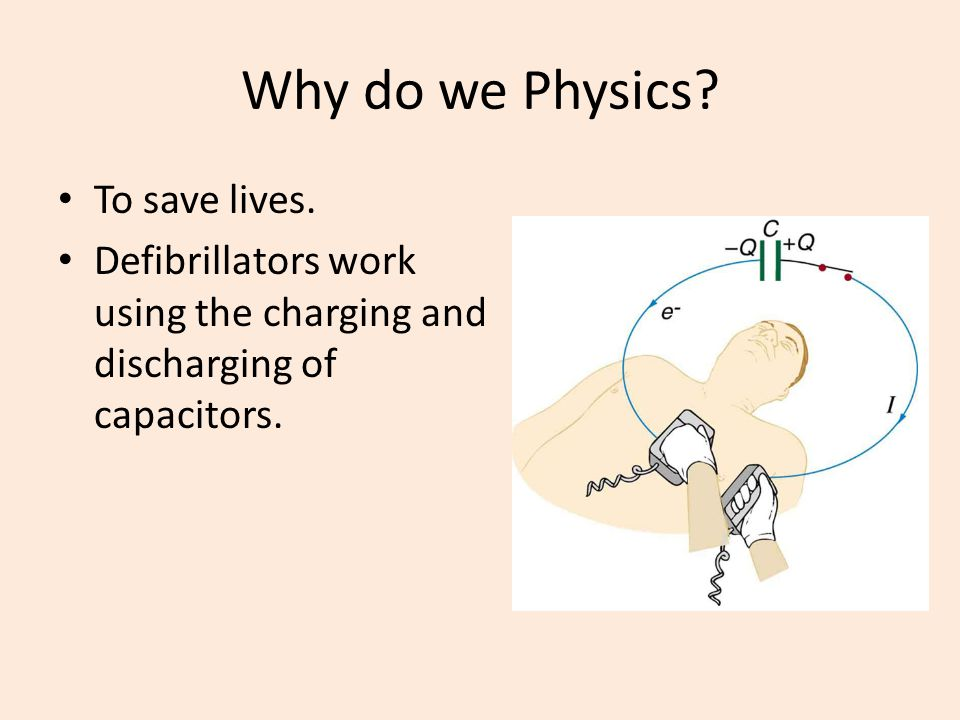 Why do we Physics To save lives.